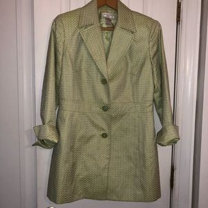 Worthington petite blazer light lime green.